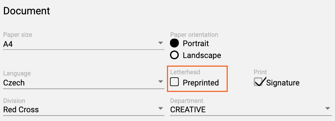 preprinted