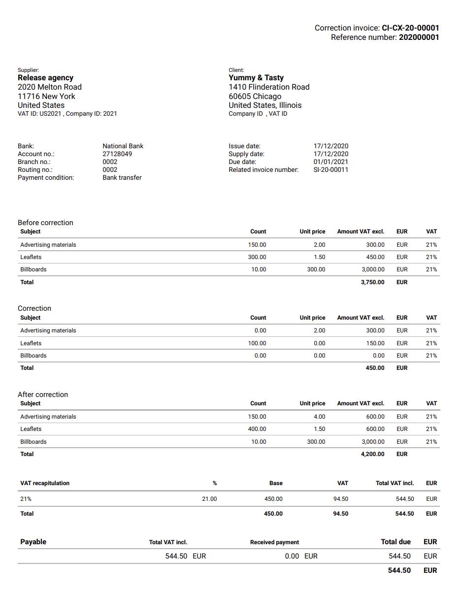 sales-correction-invoice